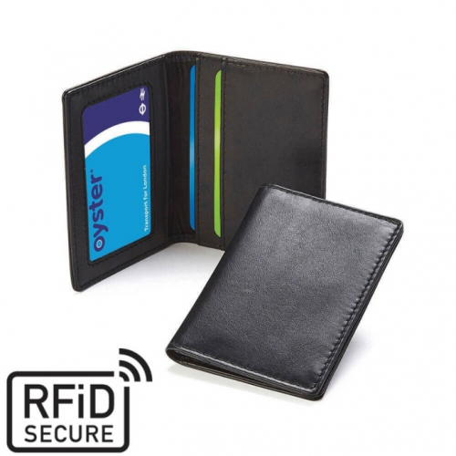 Porte-cartes RFID en cuir