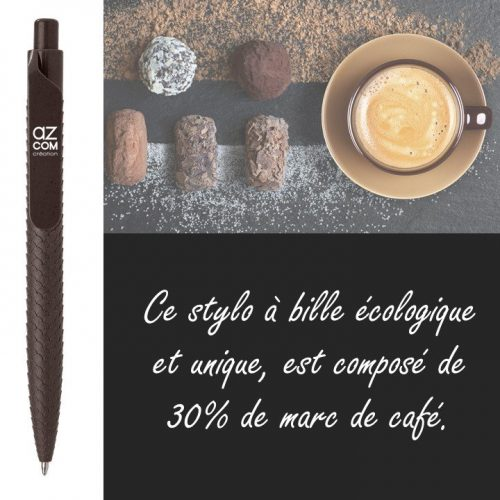 Stylo à bille composé de 30% de marc de café